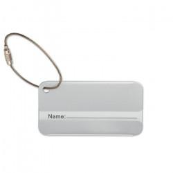 Kuffertmærke aluminium, 8x4x0,2cm, 8352A30