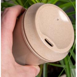 Krus lavet af avne og blade fra risplanter 400ml.  riceba178