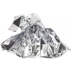 Førstehjælpstæpper 210x130 cm.  Tynd polyesterfolie (PET) belagt med aluminium.