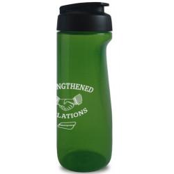 Drikkeflasker med klaplåg og logo