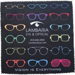 Brillepudseklude med farvefoto, 91586A305