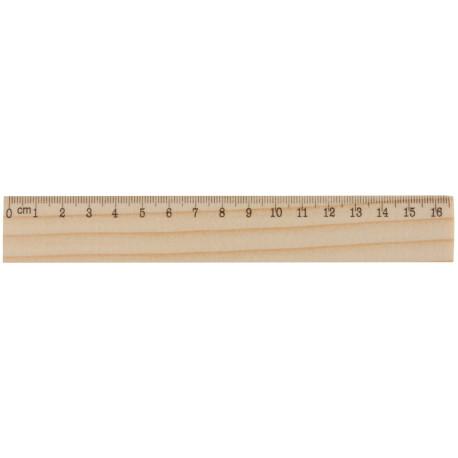 Træ linealer 20cm, 808514A404