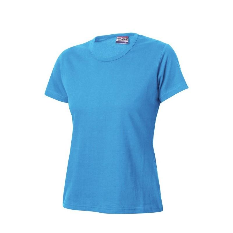 Clique figursyet dame t shirt med logo tryk reklame