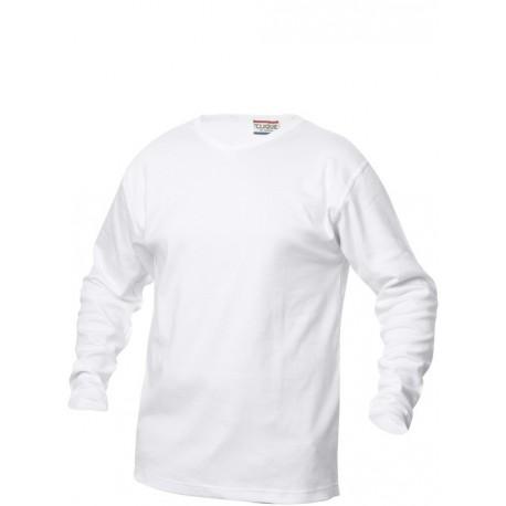 Clique langærmet kraftig t-shirt