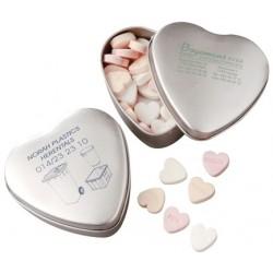 Hjerteformet tindåse med pastiller