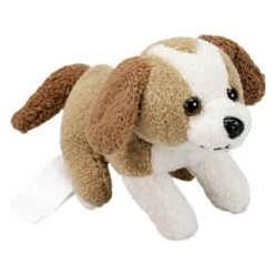 Blød plys hund, 8x8cm, 27,5 gram,