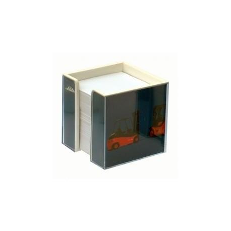Dobbeltsidet bordstander med papirark
