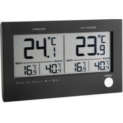 Inden -og udendørs termometer