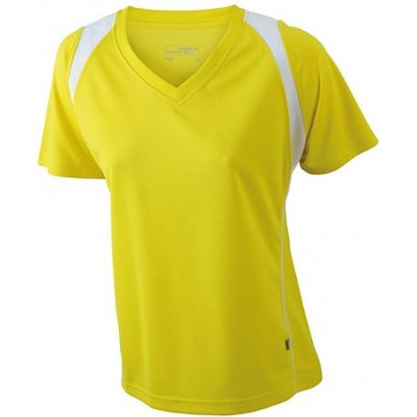 Dame løbe t-shirt med v-hals