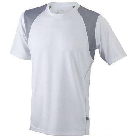 Herre løbe t-shirt med v-hals