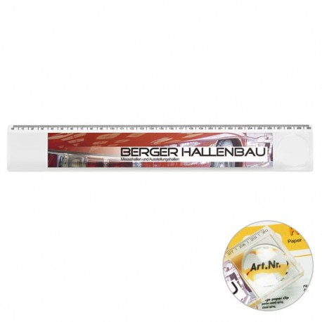 Lineal 30 cm med lup