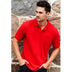 Unisex polo shirt med brystlomme