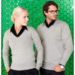 Clique sweater med V-hals