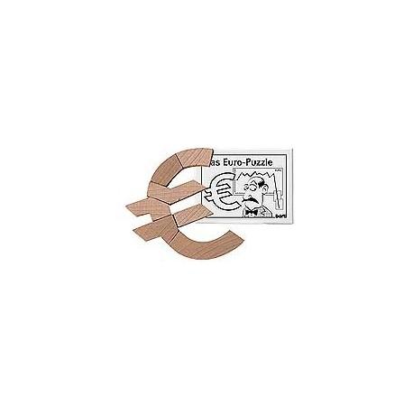 Træ puslespil udformet som et Euro tegn