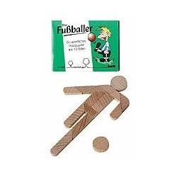 Træ puslespil udformet som fodboldspiller
