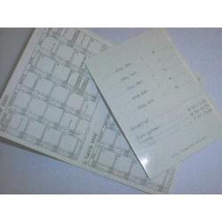 Frisør/tandlægekalender i karton