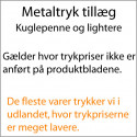 Metaltryktillæg kuglepenne + lightere